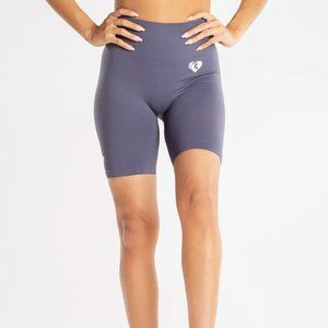 Women's Best Power Seamless Cycling Shorts in Grey